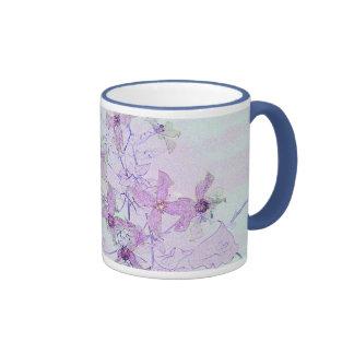 flower art lavender mug