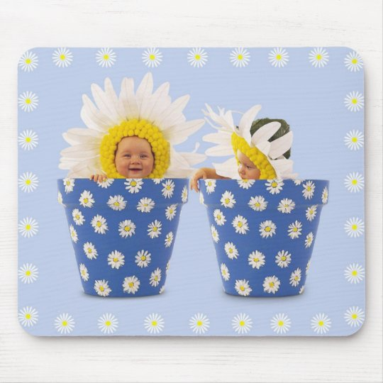 flower babies mouse pad