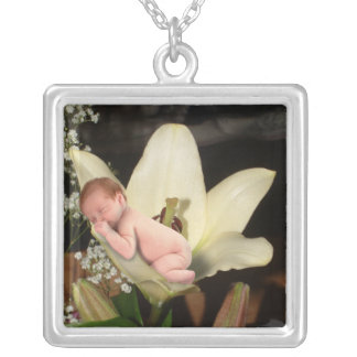 Flower Baby Silver Plated Necklace
