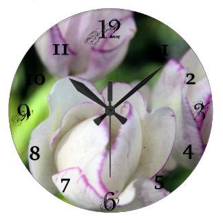 Flower back ground clocks