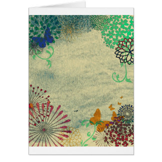 Flower Background Card