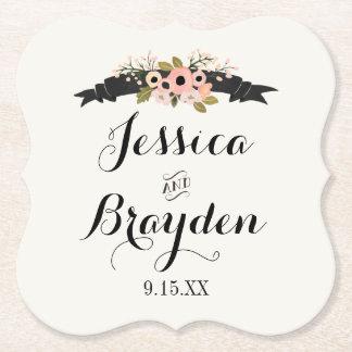 Flower Banner Paper Coaster