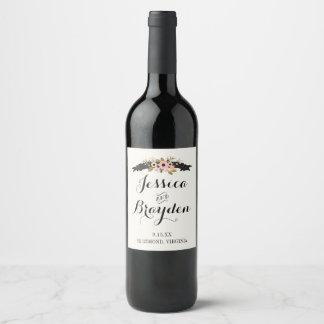 Flower Banner Wine Label
