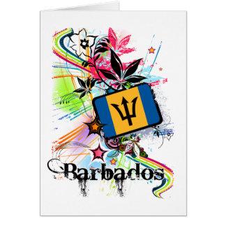 Flower Barbados Card