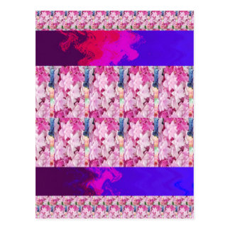 Flower based textures n patterns on Giveaway GIFTS Postcard