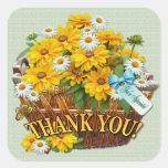 Flower Basket  ~ Square Sticker
