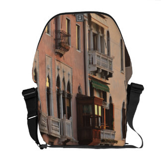 flower baskets and ornate Palace details, Italy Courier Bag
