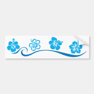 Flower Beach Bumper Sticker