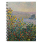 Flower Beds at Vetheuil by Claude Monet Notebook