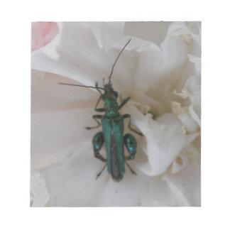 Flower Beetle Notepad