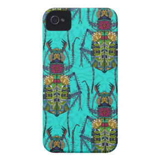flower beetle turquoise Case-Mate iPhone 4 case