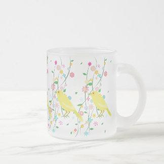 flower bird repeat coffee mugs