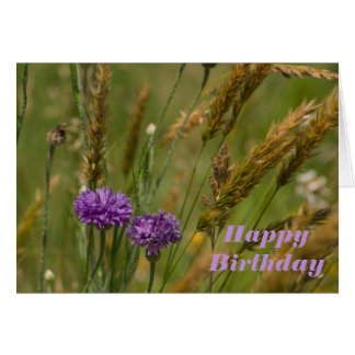flower birthday card with blessings