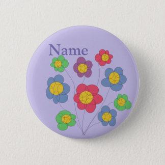flower blast - badge/button 6 cm round badge