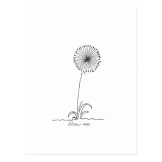 Flower - blow me postcard
