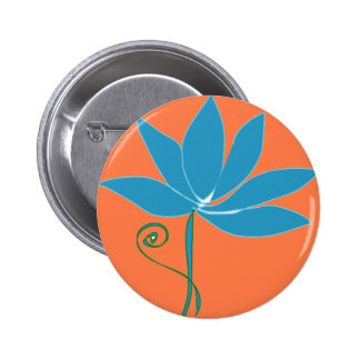 Flower - Blue Lotus 6 Cm Round Badge