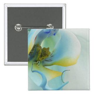 Flower Blue Orchid 15 Cm Square Badge