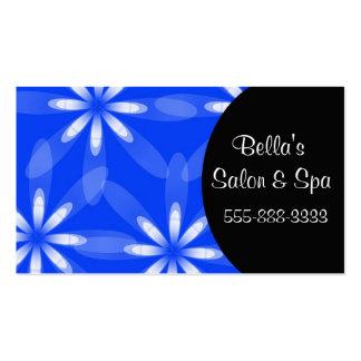 flower blue pack of standard business cards