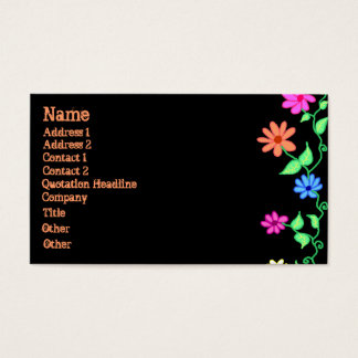 Flower Border Business Card