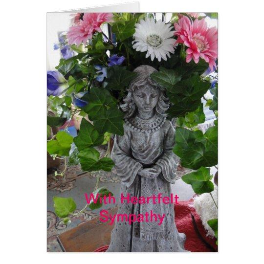 Flower Bouquet In Angel, Sympathy Card