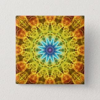 Flower Bouquet kaleidoscope 15 Cm Square Badge