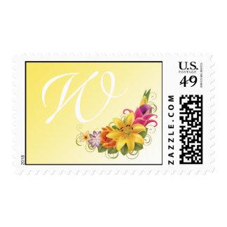 Flower Bouquet Wedding Postage Stamps
