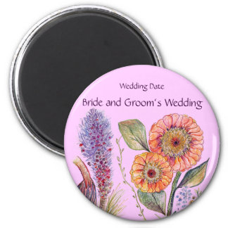 Flower Bouquet Wedding Souvenir Magnet
