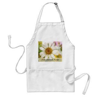 Flower Bouquet - White Daisy Adult Apron