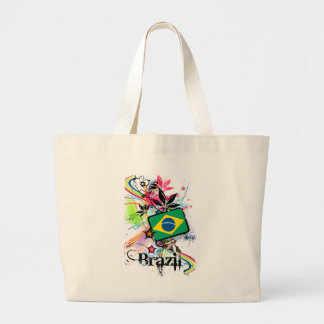 Flower Brazil Large Tote Bag