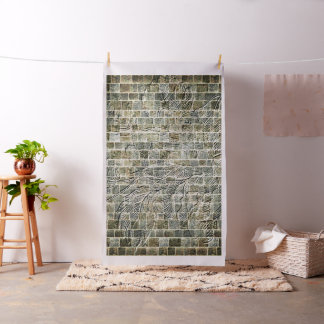 Flower Brick Wall Effect Fabric