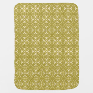 Flower Bronze Baby Blanket 1