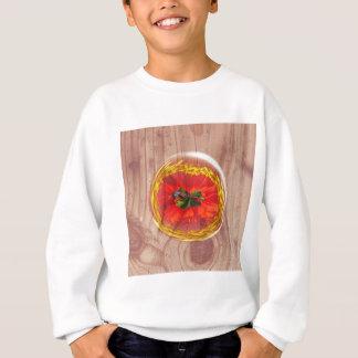 Flower Bubble across wood Sweatshirt