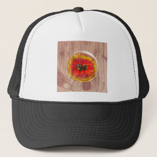 Flower Bubble across wood Trucker Hat