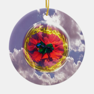 Flower Bubble in the sky Christmas Ornament