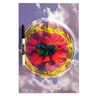 Flower Bubble in the sky Dry Erase Board