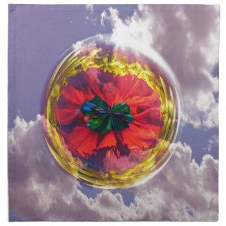 Flower Bubble in the sky Napkin