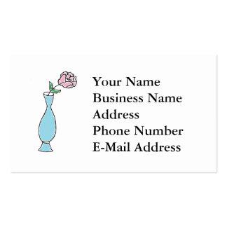 Flower Bud Vase Drawing Pack Of Standard Business Cards