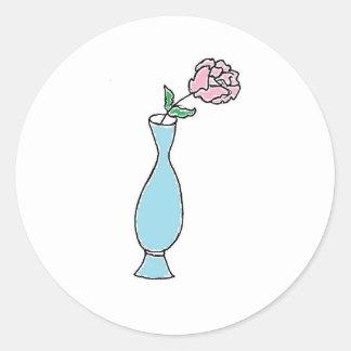 Flower Bud Vase Drawing Sticker