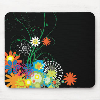 flower bunches of swirls vector mouse pad