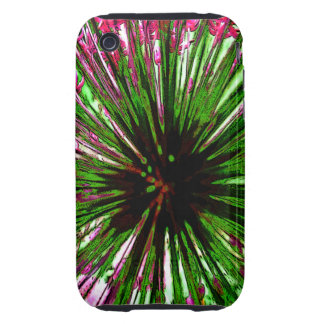 Flower Burst Abstract Case Tough iPhone 3 Covers