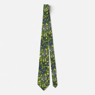 Flower Burst Grape Hyacinths Daffodils Spring Tie