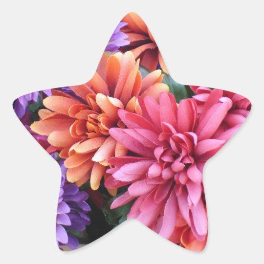 Flower Bursts Star Sticker