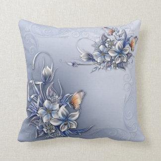 """Flower/ButterfiesPolyester Throw Pillow 16"""" x 16"""" Throw Cushion"""
