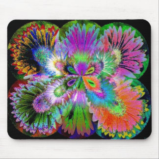 Flower Butterfly Abstract Mousepad