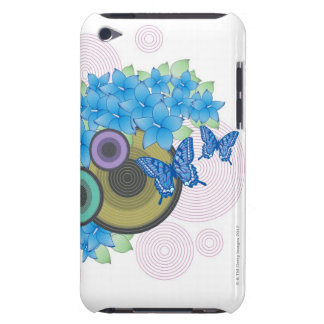 Flower Butterfly Barely There iPod Cases