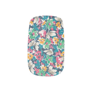 Flower Butterfly Minx Nail Art
