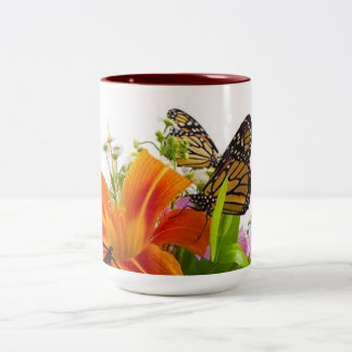Flower Butterfly Two Tone Mug