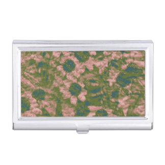 Flower camouflage pattern business card holder