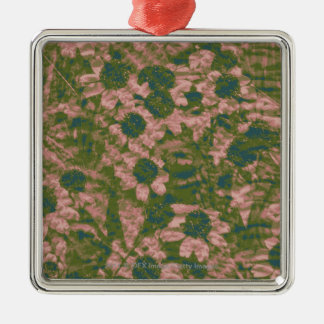 Flower camouflage pattern christmas ornament