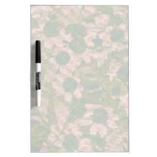 Flower camouflage pattern dry erase board